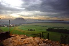 Blick vom Rauenstein II (derGrafiker.de) Tags: rock fog rocks nebel saxony sachsen klettern felsen lilienstein schsischeschweiz knigstein barbarine freecimbing babarine