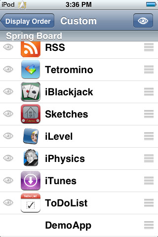 iCars, a Star Trek LCARS Summerboard Theme for iPhone and iPod Touch