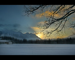 Sunset in my way! (labareda photo) Tags: sunset snow alpes austria bravo perfect photographer the saalbach hinterglemm anawesomeshot superbmasterpiece excapture