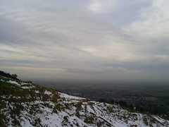(James Trickey) Tags: winter england white snow cold walking hill january footprints cotswolds gloucestershire cheltenham wintry cleeve