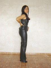 Pleaser tacn rojo 2 (lady_dulciny_boots) Tags: leather pumps pants lack charol