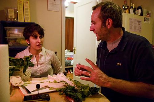 explaining something