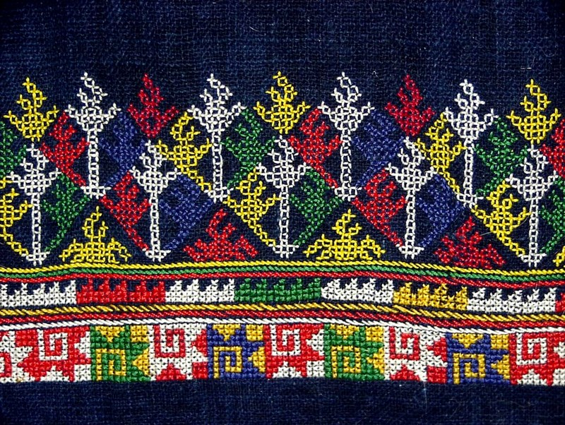 Hmong Cross Stitching - Shirt Border