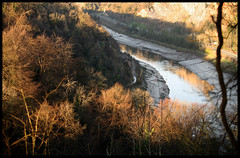 Bend in the Gorge, Bristol (archidave) Tags: wood uk winter england sun forest river bristol golden afternoon bend somerset valley gorge avon tidal clifton leighwoods nightingalevalley