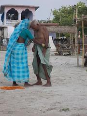 100_2049 (amiableguyforyou) Tags: india men rural river countryside couple underwear varanasi bathing ganga dhoti oldmen ganges suriya holymen ritualbath panche ritualbathing langoti dhotar bathingindia langota
