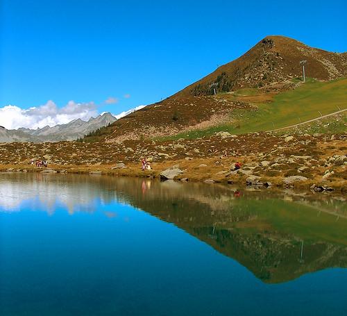 Escursione al lago Klaus in valle Aurina in Alto Adige Italia