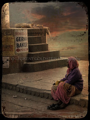 """Loneliness, How I stumbled on the path of the Heart"" (designldg) Tags: sunset people woman india varanasi whois breathtaking ghats benaras femininity uttarpradesh  indiasong hourofthediamondlight"