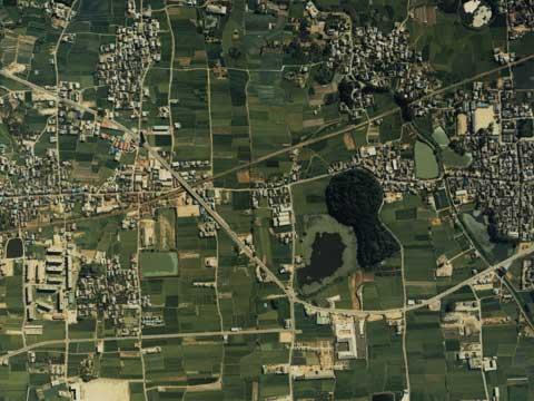 箸墓古墳-航空写真