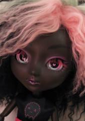 CMYK (I.G. (Sirenita)) Tags: pink black girl skull belt punk doll dress handmade mint sugar planning mohair pullip miss rhinestones jun