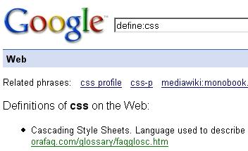 Google define: Operator in Action
