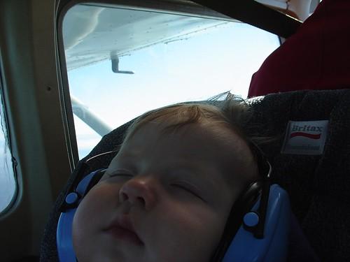 Sleeping through the flight