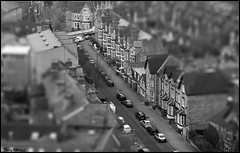 nottingham street (vcrimson) Tags: nottingham uk houses england blur streets cars miniature small faux tiltshift tiltshift12