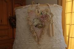 Tea Cup Heart Bluebird (Cabinet of Old Secret Loves) Tags: pink white angel vintage nest feather tassels porcelainroses