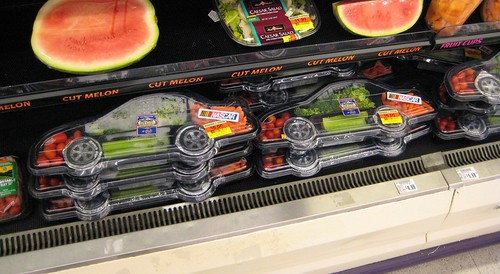 Nascar-Shaped Veggie Trays-Crop