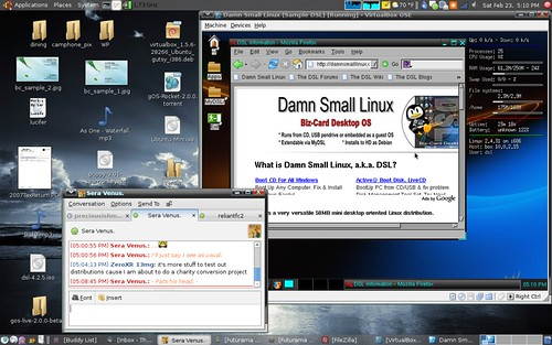 Virtual Box Running DSL