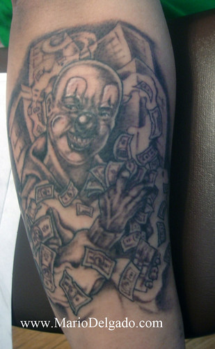 clown tattoo designs. hair Psycho Clown Tattoo