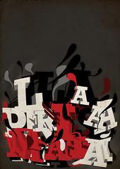 LaPrisaMata Poster (laprisamata) Tags: madrid urban art blanco poster typography gris graffiti design 3d movement spain rojo arte grafiti designer movimiento urbano lettering typo diseño cartel letras tipo tipografía diseñador