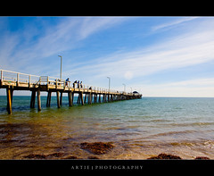 Henley Beach, South Australia (Artie | Photography :: I'm a lazy boy :)) Tags: sea sky seaweed beach water jetty horizon scenic australia southaustralia henley henleybeach artie