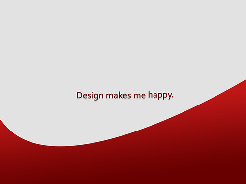 Design makes me happy