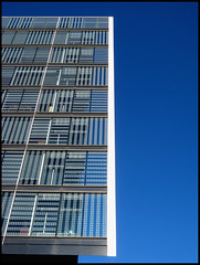 ] ( CHRISTIAN ) Tags: blue sky building window glass lines architecture montral geometry montreal bleu explore ciel qubec difice fentre gomtrie lignes verre citdumultimdia gwim
