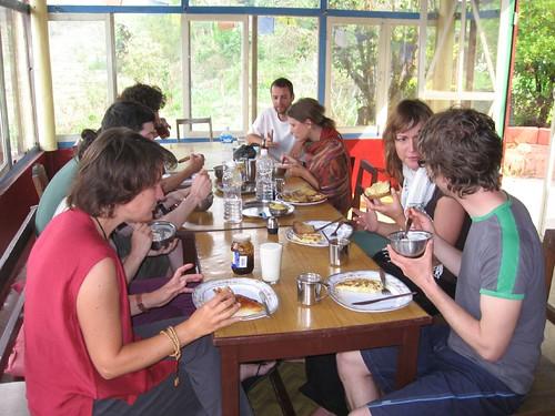 Communal lunch