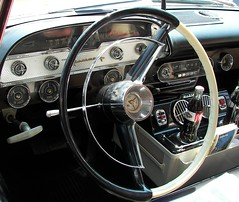DeSoto Dash (Dusty_73) Tags: auto show detail classic car wheel vintage steering kodak interior retro dash 1958 driver chrysler mopar desoto kingsburg p850 firesweep