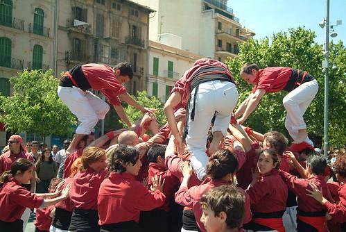 Actuació castellera a Ciutat