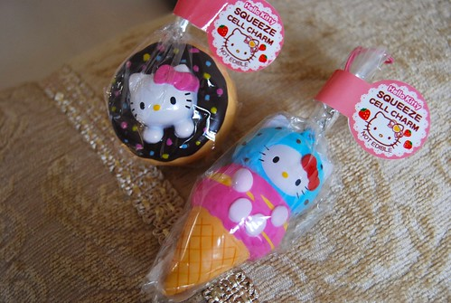 hello pink ice hellokitty cream kitty charm sanrio sprinkles doughnut kawaii strap squishy
