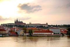 Castle Square, Praha (DKF_L) Tags: sunset river prague august praha czechrepublic bohemia 2007