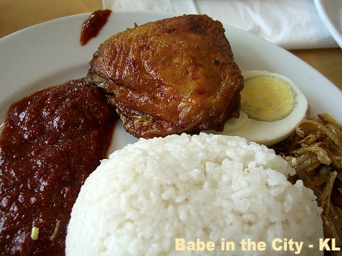 Ikea breakie - nasi lemak with deep fried chicken