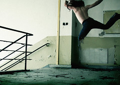 . spinning (di.SUN.ity) Tags: broken stairs fight jump treppe oldhouse spinning lonely weak treppenhaus zero7 springen alteshaus kmpfen durchdrehen disunity thxtomybrother katrinlindner