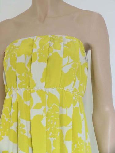 3.1 Phillip Lim Floral Print strapless dress