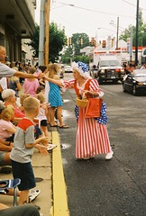Flag lady at New Market Fourth of July Parade