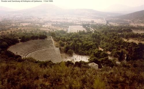 Theater and Sanctuary of Asklepios at Epidaurus.