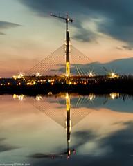 Spike Island sunset (6 of 9) (andyyoung37) Tags: merseyestuary merseygatewaycrossing reflections rivermersey sunset widnes england unitedkingdom gb