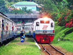 KA Purwojaya memasuki Stasiun Bumiayu (chris railway) Tags: railroad station train indonesia tren eisenbahn railway zug locomotive trem purwokerto bahn treno ka spoor ferrocarriles treinen gleis treni spoorweg   chemindefer  pocig       gambir cilacap  pasarsenen  demiryolu brebes keretaapi ferroviarie  bumiayu trainphotography  ngst cc201 kutoarjo  purwojaya sawunggalih  tuho    bersilang sepurbelok cc20170   umayxela sidulich  ngperokaril   kolejowych ferrovipathe ferrovira fotografiaferrovira