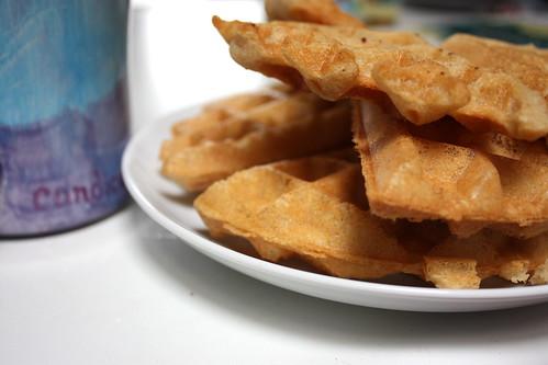 Gluten free, vegan waffles