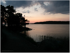 Saltsjbaden 02:28 (Papa Razzi1) Tags: sea june sunrise sweden stockholm n e nightlight 19 811 saltsjbaden 0228 baggensfjrden 18 olympussp550uz restaurangholmen 59163018