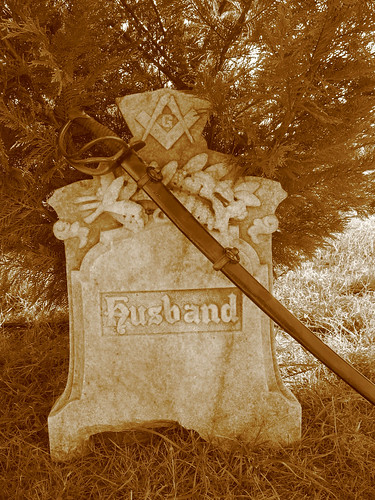 confederate tombstone sepia