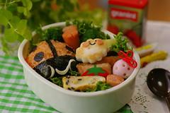 Ladybug bento box (luckysundae) Tags: fieldtrip ladybug bento lunchbox bentobox ensoku kyaraben