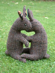 flora and nora .... (RaggyRat) Tags: bunnies handmade rabbits sewn crafted raggyrat