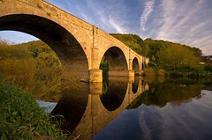 Kerne Bridge (flash of light) Tags: bridge light sunset england english river landscape geotagged evening village valley herefordshire lower goodrich soe wye kerne anawesomeshot geo:lat=51870152 geo:lon=2610763