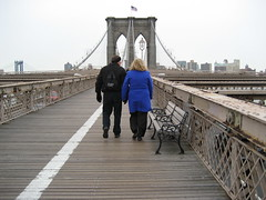 M&D on the brooklyn bridge