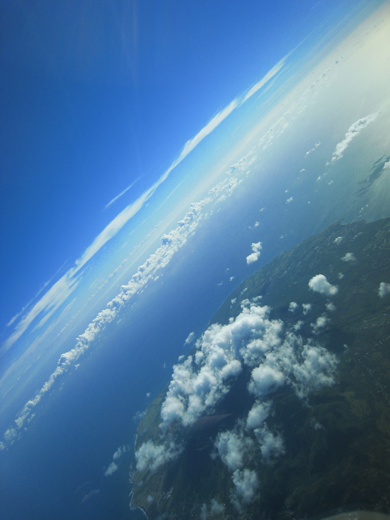 In orbit (over St. Kitts)