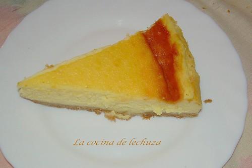tarta queso porción 2 cerca