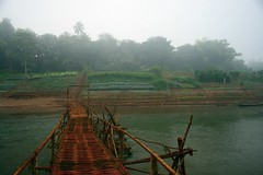 Laung Prabang (ponmania) Tags: bridge fog river laos laungprabang