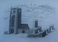 Engraving of Beauchief Abbey