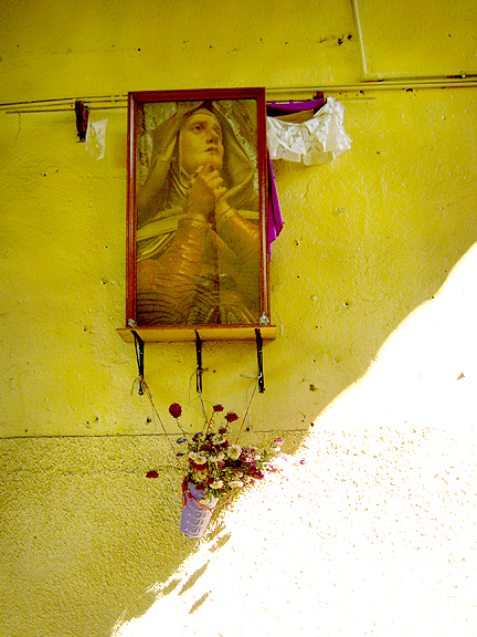 Praying Mary in Oaxacan Market