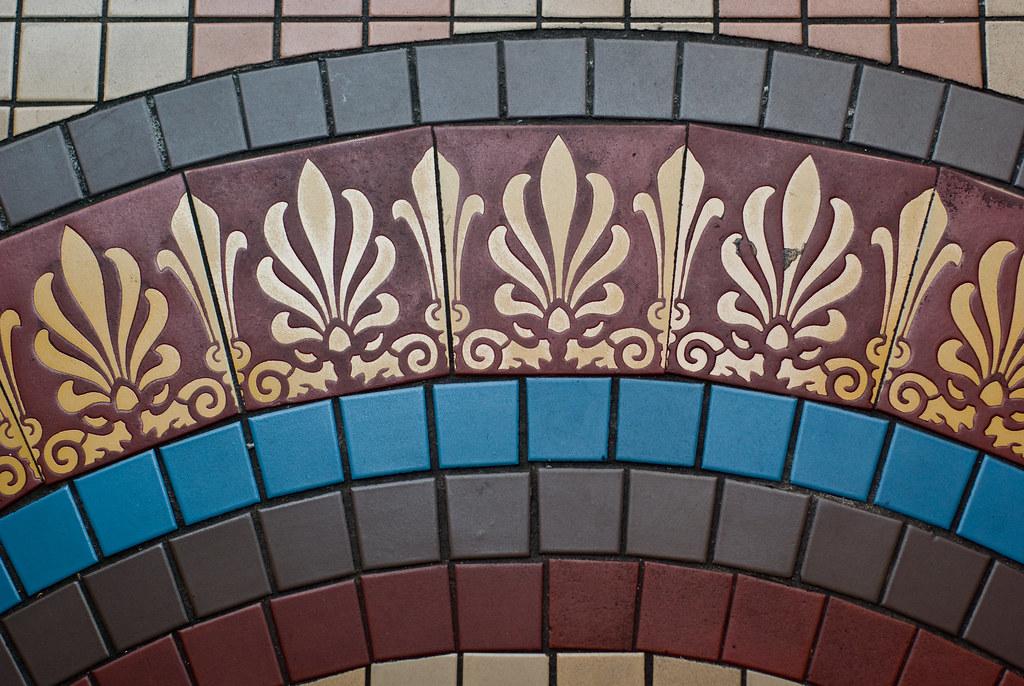 QVB (Queen VIctoria Building) Interior Sydney: Mosaic Floor Deta