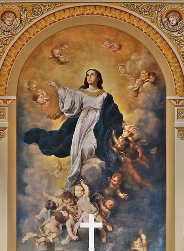 Saint Mary of the Barrens Roman Catholic Church, in Perryville, Missouri, USA - painting of the Assumption